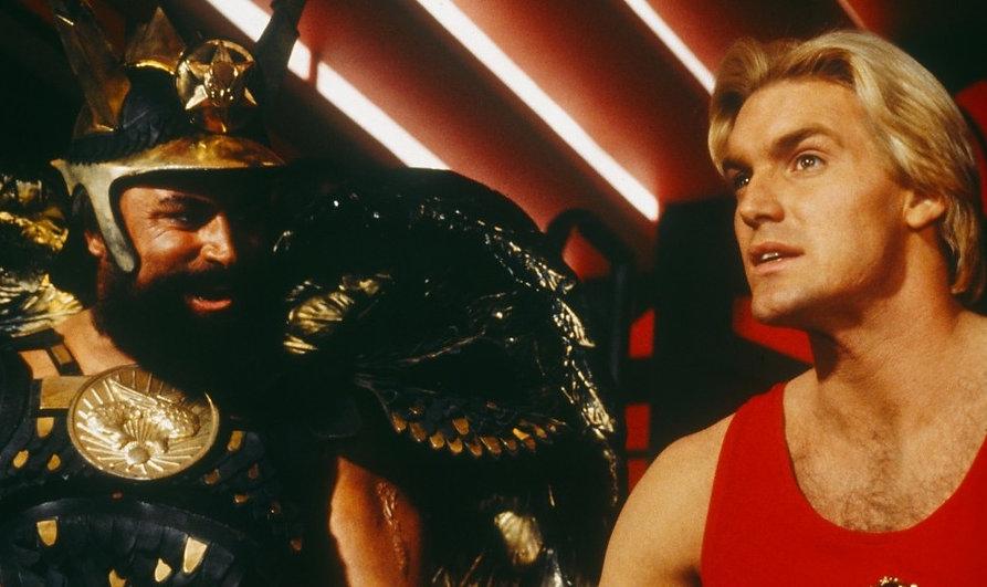 "Movie still from 1980's ""Flash Gordon."""