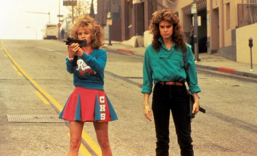 """Kelli Maroney and Mary Catherine Stewart in 1984's """"Night of the Comet."""""""