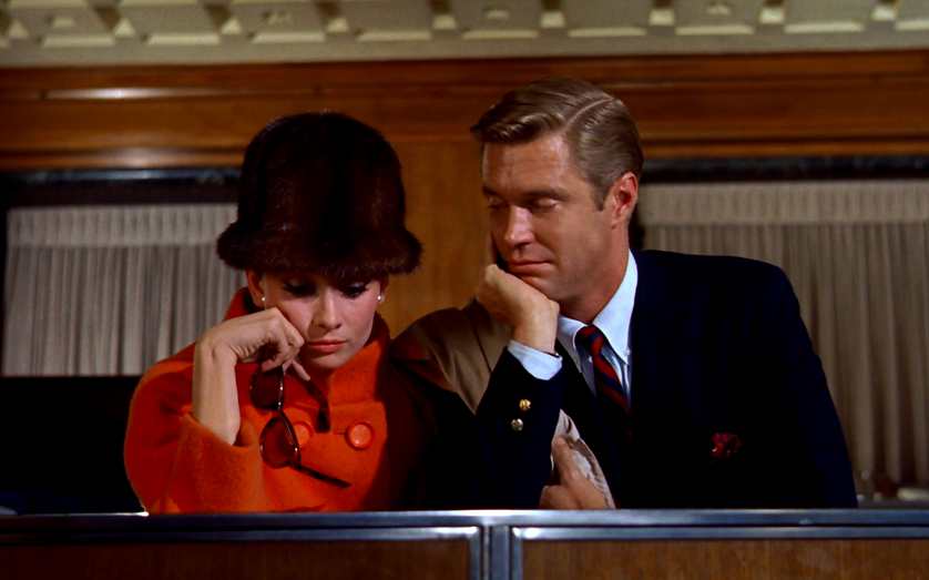 """Audrey Hepburn and George Peppard in 1961's """"Breakfast at Tiffany's."""""""