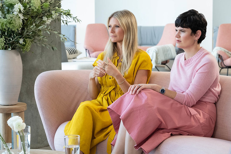 """Gwyneth Paltrow and Elise Loehnen in an episode of 2020's """"The Goop Lab."""""""
