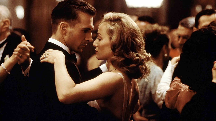 "Kristin Scott Thomas and Ralph Fiennes in 1996's ""The English Patient."""