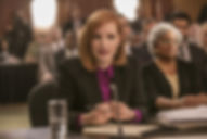 "Movie still from 2016's ""Miss Sloane."""
