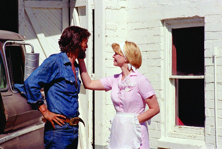 """Kris Krisofferson and Ellen Burstyn in 1974's """"Alice Doesn't Live Here Anymore."""""""