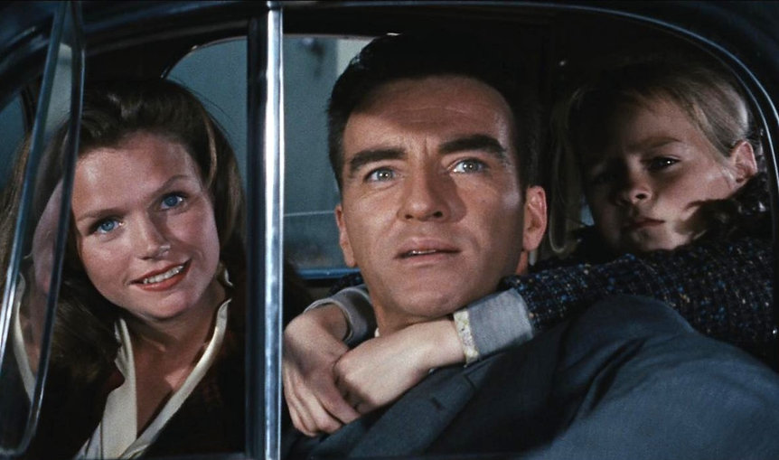 """Lee Remick and Montgomery Clift in 1960's """"Wild River."""""""