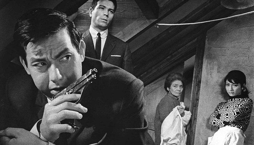 "Movie still from 1967's ""A Colt Is My Passport."""