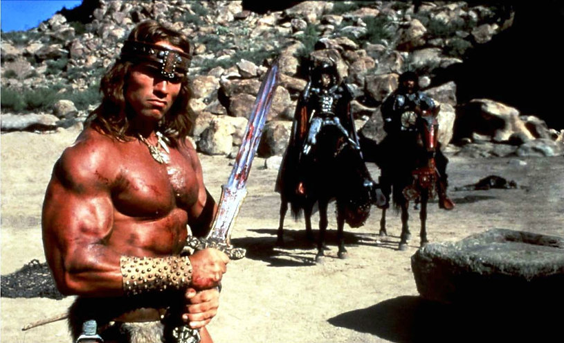 "Arnold Schwarzenegger in 1982's ""Conan the Barbarian."""