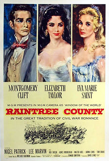 """Movie poster for 1957's """"Raintree County."""""""