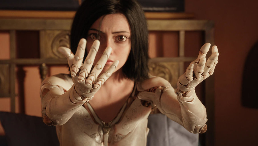 "Rosa Salazar in 2019's ""Alita: Battle Angel."""