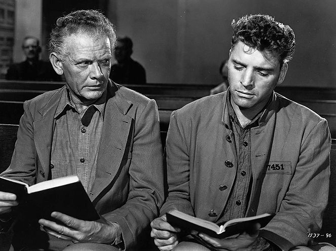 "Charles Bickford and Burt Lancaster in 1947's ""Brute Force."""
