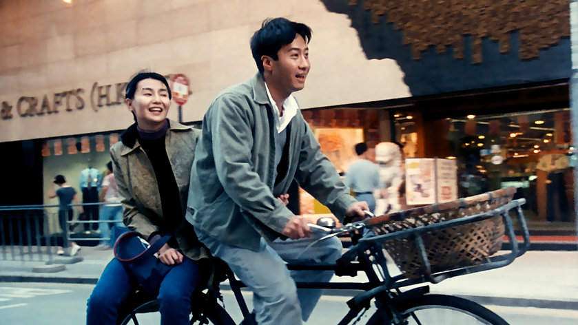 """Maggie Cheung and Leon Lai in 1996's """"Comrades: Almost a Love Story."""""""