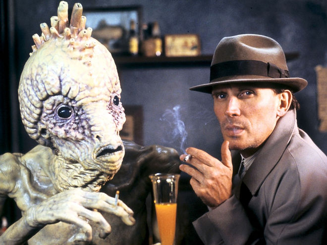 """Peter Weller in 1991's """"Naked Lunch."""""""