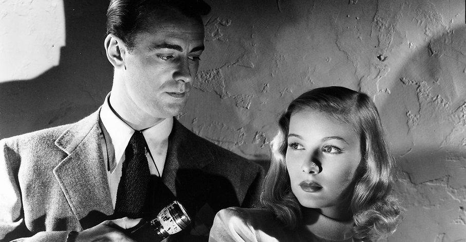 "Movie still from 1946's ""The Blue Dahlia."""