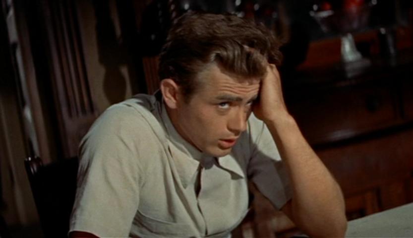 """James Dean in 1955's """"East of Eden."""""""