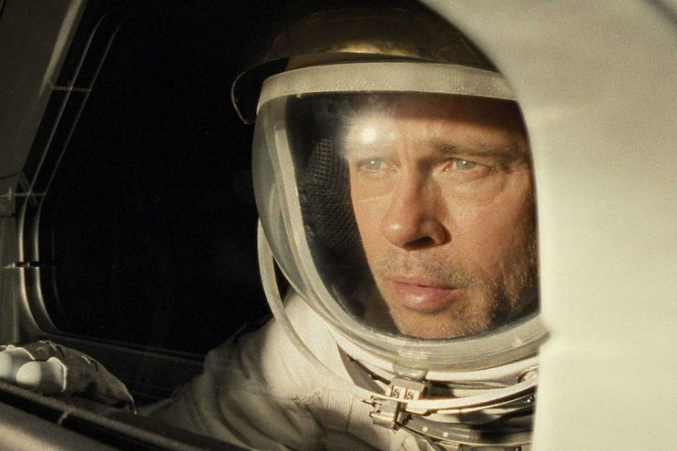 "Brad Pitt in ""Ad Astra."""
