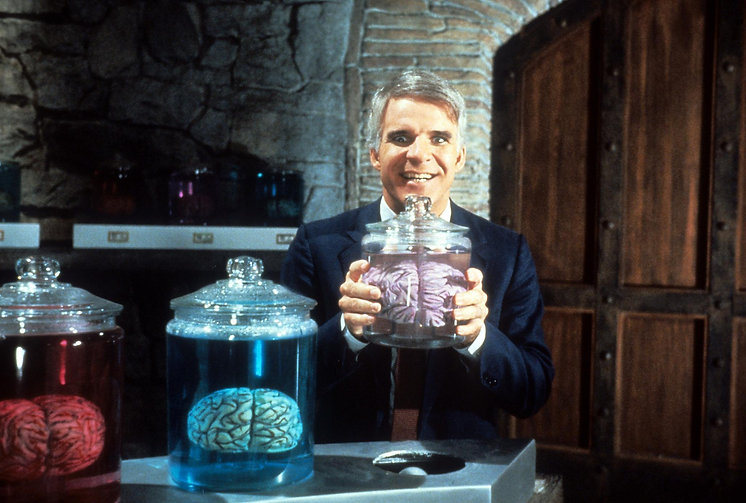 """Still from 1983's """"The Man with Two Brains."""""""