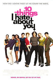 "Movie poster for 1999's ""10 Things I Hate About You."""