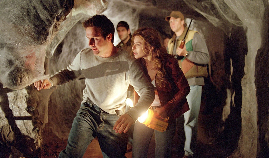 "Movie still from 2002's ""Eight Legged Freaks."""