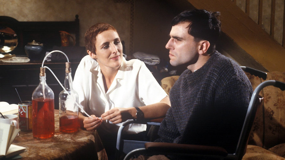 "Fiona Shaw and Daniel Day-Lewis in 1989's ""My Left Foot."""
