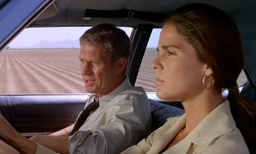 "Movie still from 1972's ""The Getaway."""