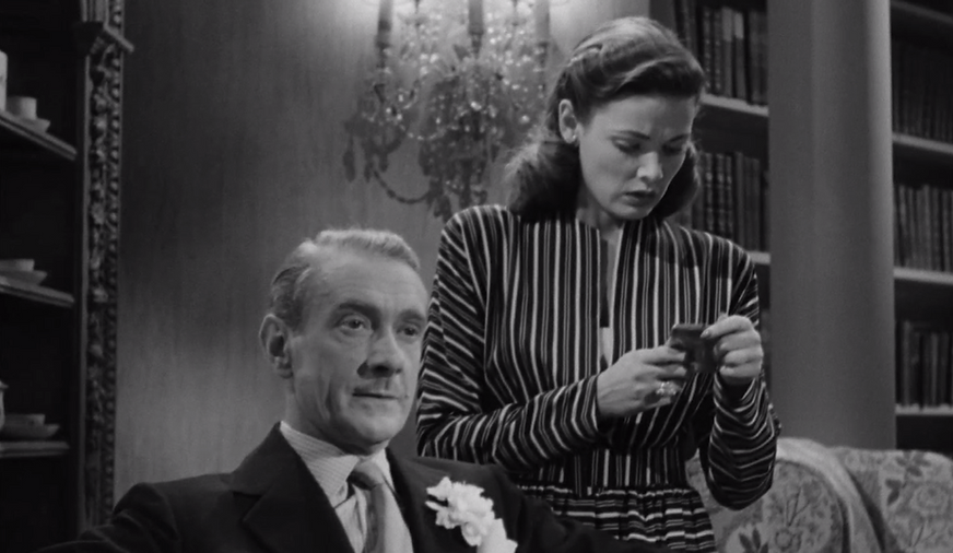 """Clifton Webb and Gene Tierney in 1944's """"Laura."""""""