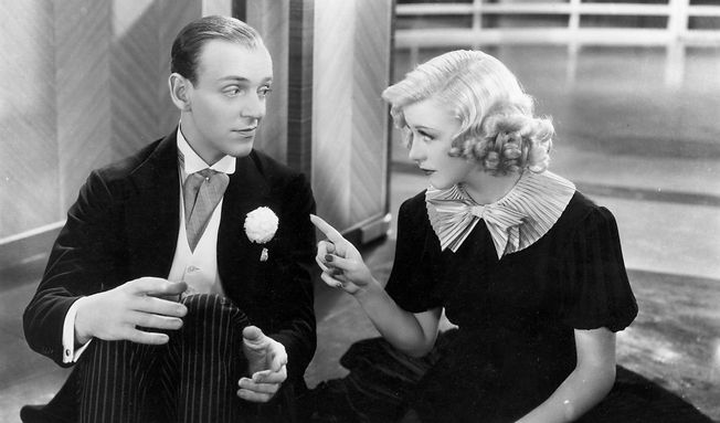 """Fred Astaire and Ginger Rogers in 1936's """"Swing Time."""""""