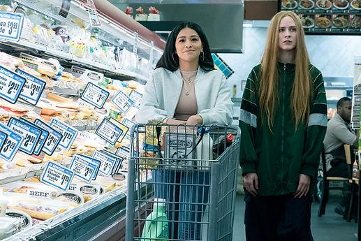 "Gina Rodriguez and Evan Rachel Rood in 2020's ""Kajillionaire."""