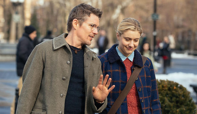 "Ethan Hawke and Greta Gerwig in 2016's ""Maggie's Plan."""