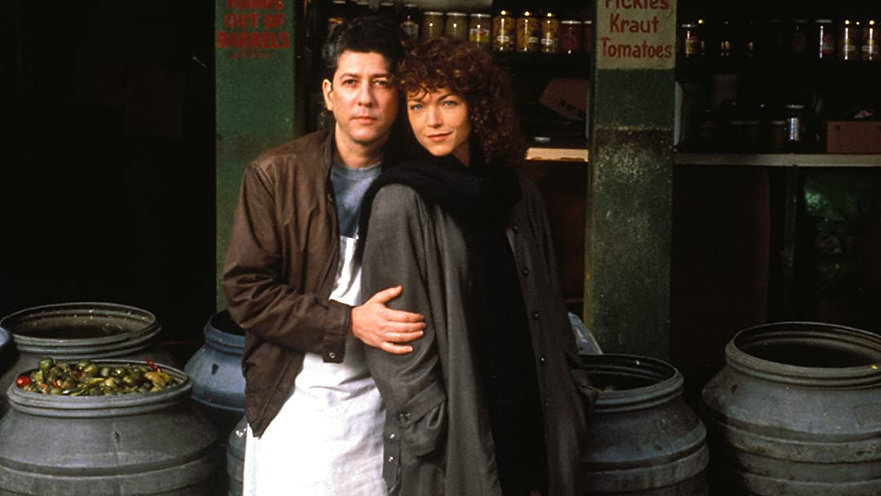 """Amy Irving and Peter Rigert in 1988's """"Crossing Delancey."""""""