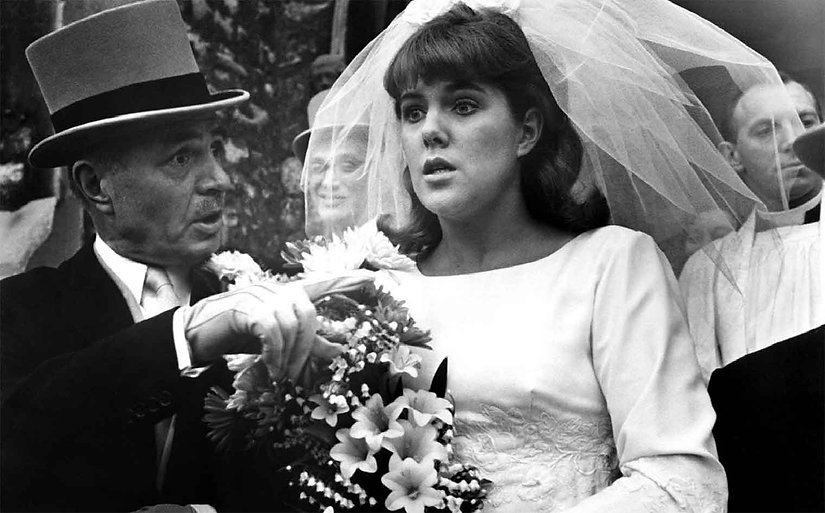"""James Mason and Lynn Redgrave in 1966's """"Georgy Girl."""""""