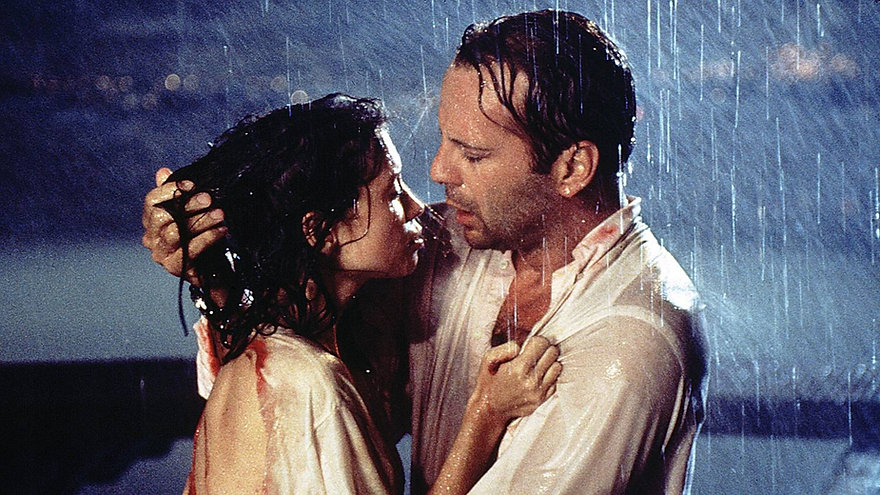 """Jane March and Bruce Willis in 1994's """"Color of Night."""""""