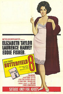 """Movie poster for 1960's """"Butterfield 8."""""""