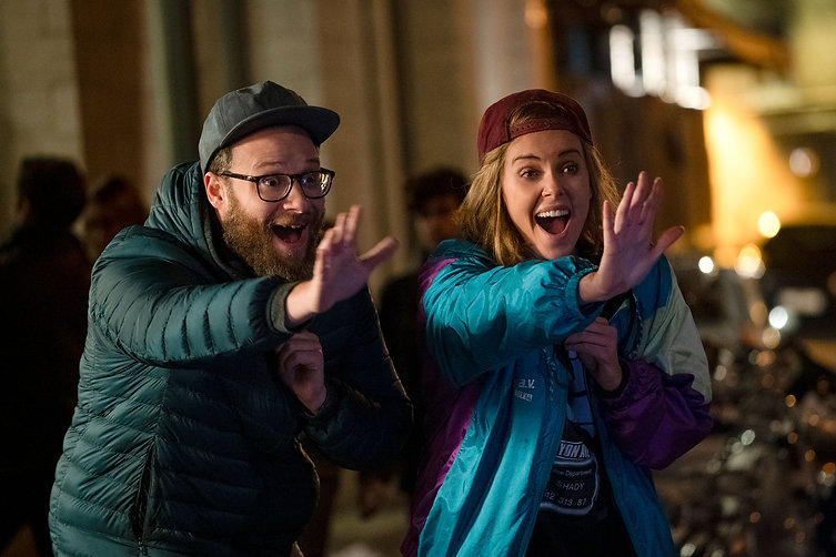 """Seth Rogen and Charlize Theron in 2019's """"Long Shot."""""""