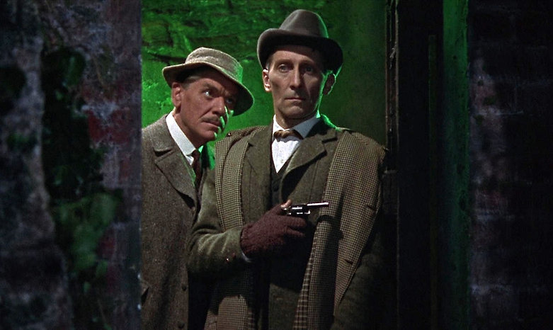 """Movie still from 1959's """"The Hound of Baskervilles."""""""