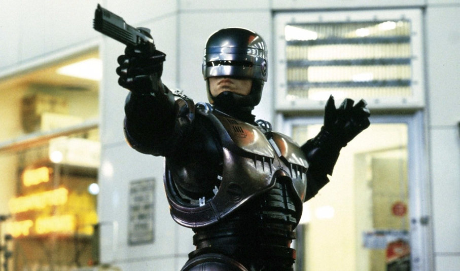 "Still from 1987's ""RoboCop."""