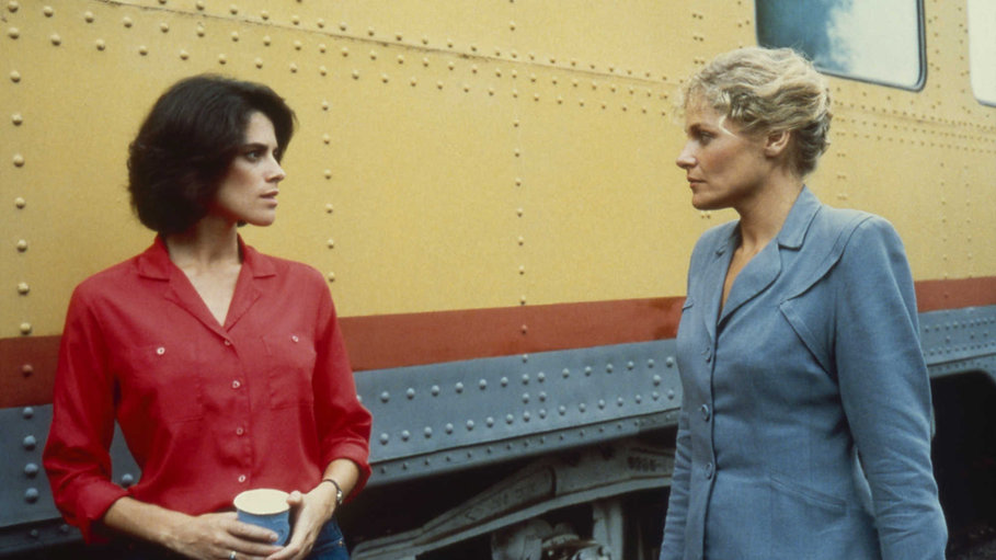 """Patricia Charbonneau and Helen Shaver in 1985's """"Desert Hearts."""""""