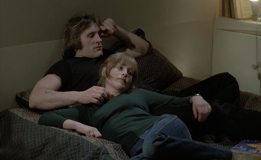"Gérard Depardieu and Isabelle Huppert in 1980's ""Loulou."""