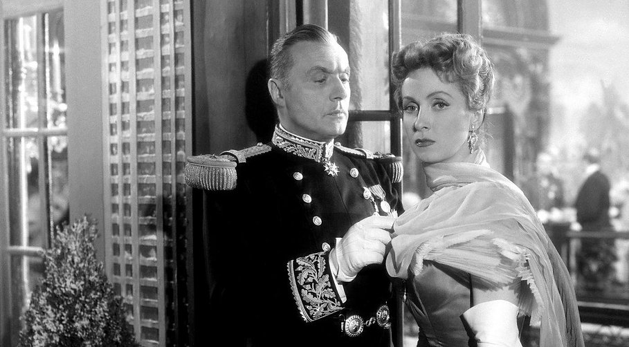 """Charles Boyer and Danielle Darrieux in 1953's """"The Earrings of Madame de..."""""""