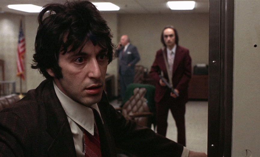 """Al Pacino and John Cazale in 1975's """"Dog Day Afternoon."""""""