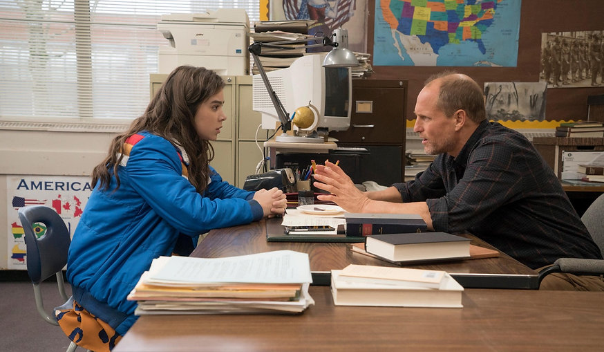 "Hailee Steinfeld and Woody Harrelson in 2016's ""The Edge of Seventeen."""