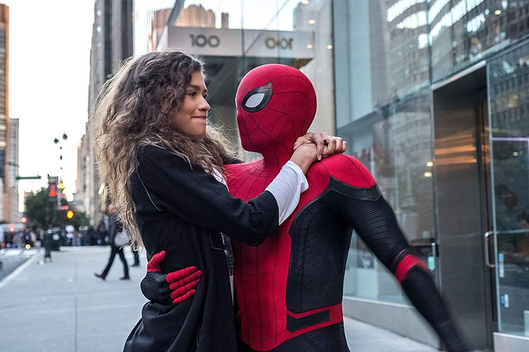 """Zendaya and Tom Holland in 2019's """"Spider-Man: Far from Home."""""""