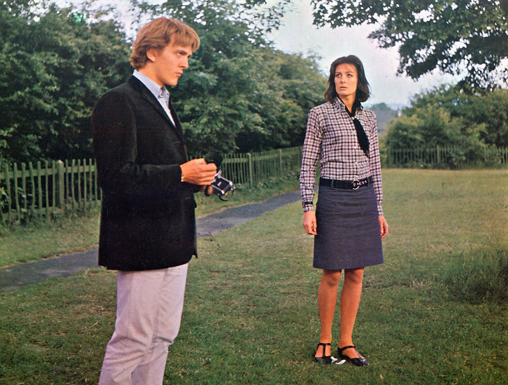 "Vanessa Redgrave and David Hemmings in 1966's ""Blowup."""