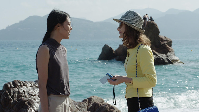 """Kim Min-hee and Isabelle Huppert in 2017's """"Claire's Camera."""""""
