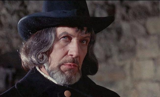 "Vincent Price in 1968's ""Witchfinder General."""