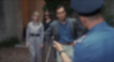 "Barbara Crampton, Jessica Dollardhide, and Jeffrey Combs in 1995's ""Castle Freak."""