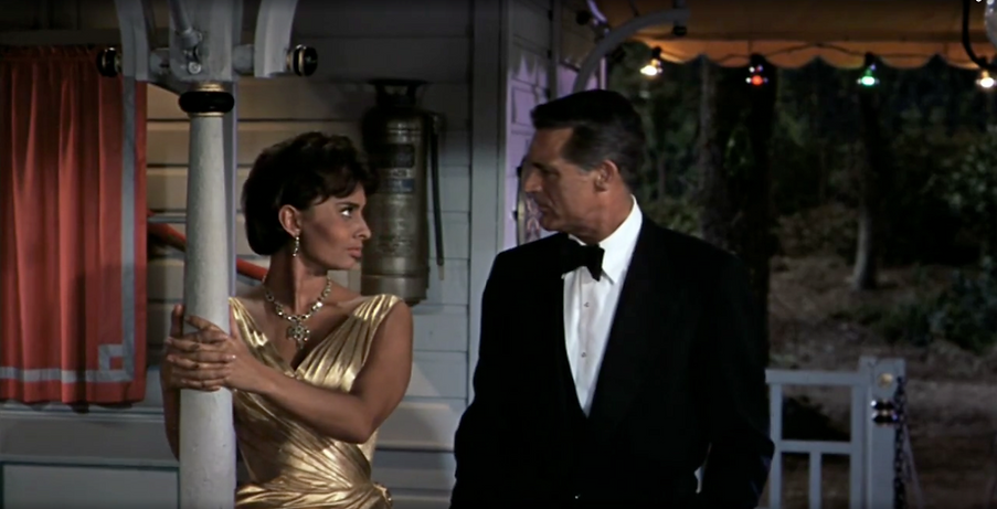 """Movie still from 1958's """"Houseboat."""""""