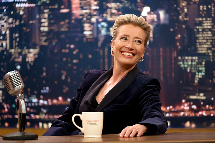 "Emma Thompson in 2019's ""Late Night."""