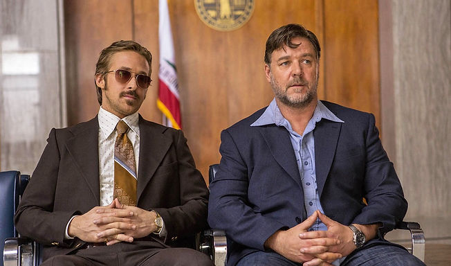 "Ryan Gosling and Russell Crowe in ""The Nice Guys."""
