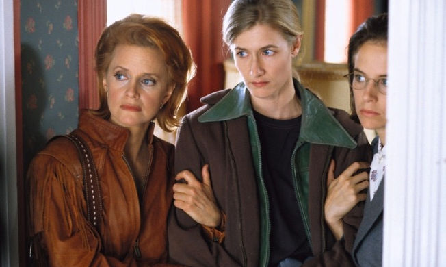 "Swoosie Kurtz, Laura Dern, and Kelly Preston in 1996's ""Citizen Ruth."""