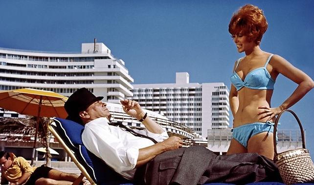 """Frank Sinatra and Jill St. John in 1967's """"Tony Rome""""."""