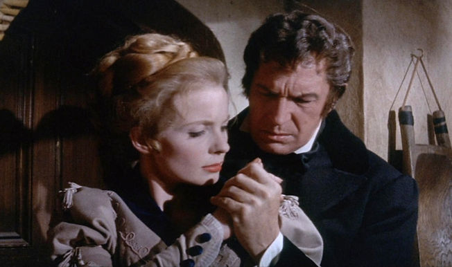 "Elizabeth Shepherd and Vincent Price in 1965's ""The Tomb of Ligeia."""
